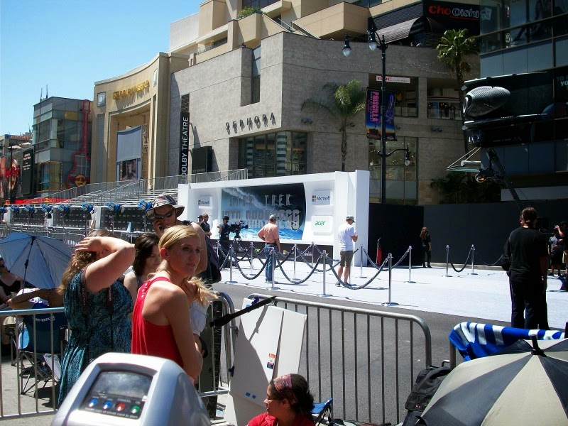 Fans lined up along the street for the premiere