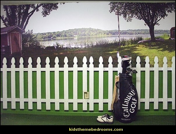 golf wall murals-golf theme bedrooms