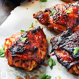 Baked BBQ Chicken Thighs | by Life Tastes Good