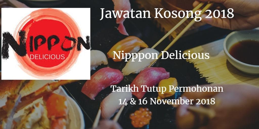 Jawatan Kosong Nippon Delicious Sdn Bhd 14 & 16 November 2018