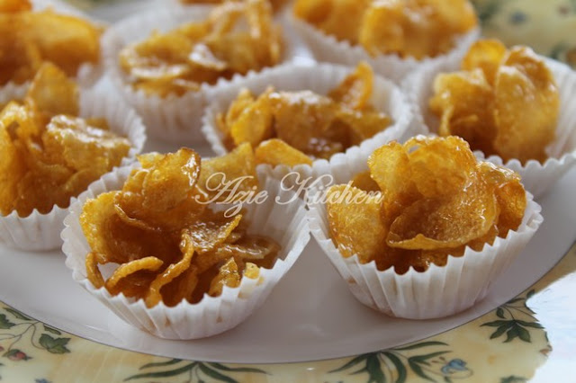 Biskut Cornflakes Madu Yang Sedap