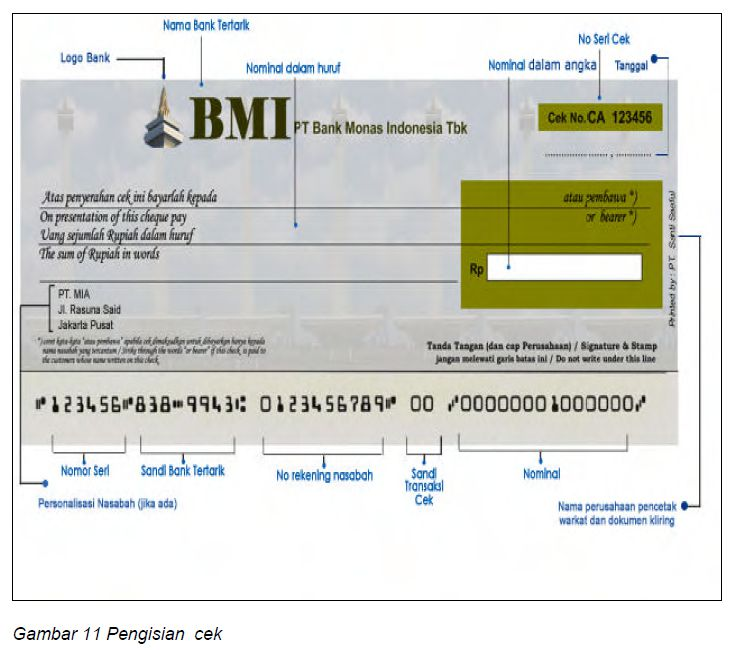 Pembayaran Dengan Menggunakan Cek Dan Bilyet Giro Ilmu