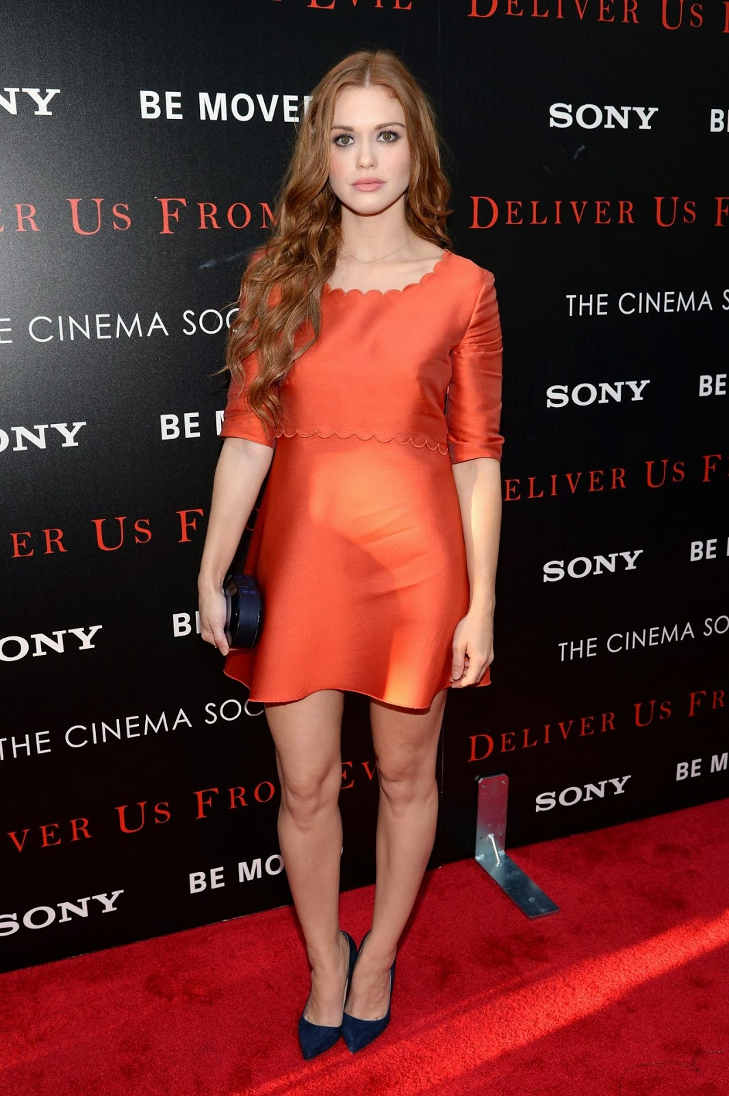 Holland Roden at the 'Deliver us from Evil' screening in NYC