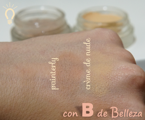 Swatch Painterly MAC Creme de nude Maybelline
