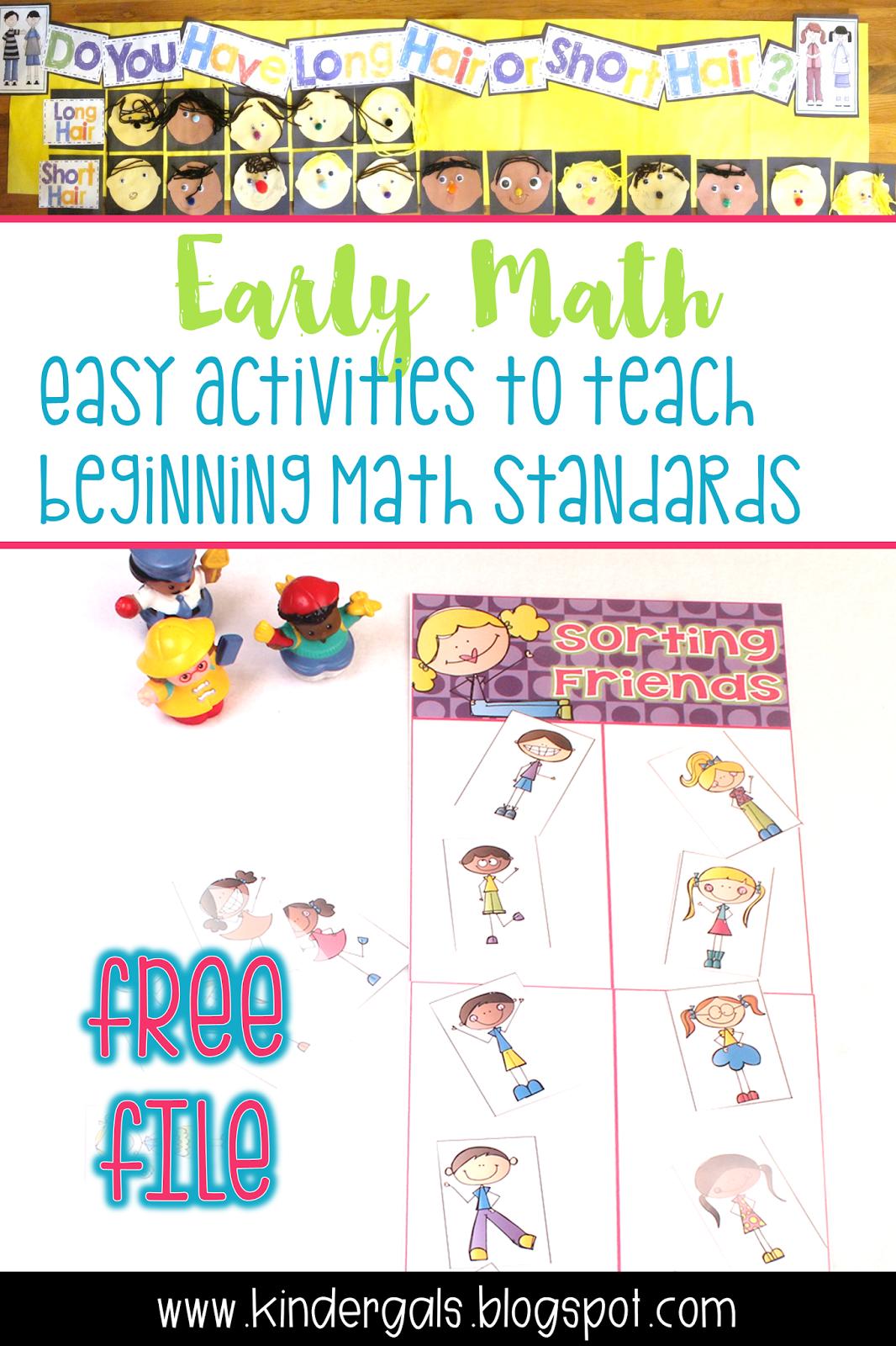 Kindergals Activities To Develop Early Math Understanding