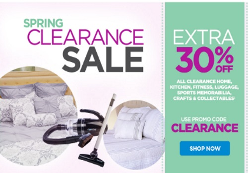 The Shopping Channel Extra 30% Off Spring Clearance Sale Promo Code