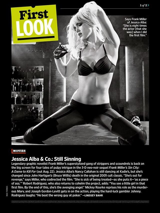Jessica Alba es Nancy en Sin City 2: A Dame to kill for