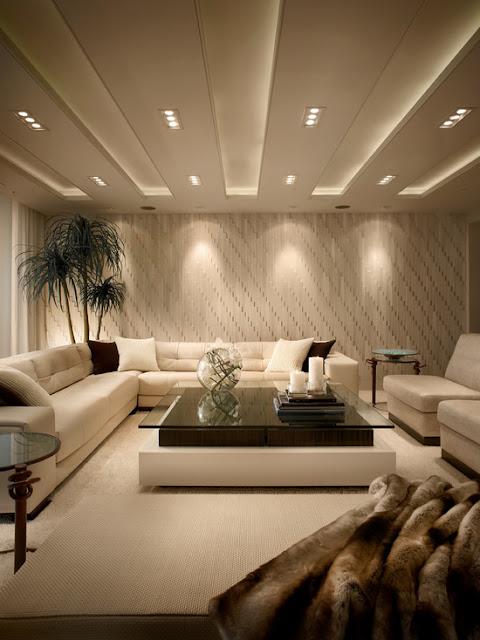 богатый интерьер гостиной комнаты