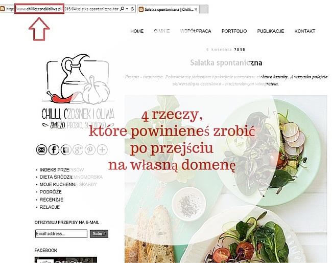 Po przejściu na własną domenę popraw adres bloga w mediach społecznościowych, sprawdź wtyczki na blogu, zmień adres w agregatorach takich jak Bloglovin.