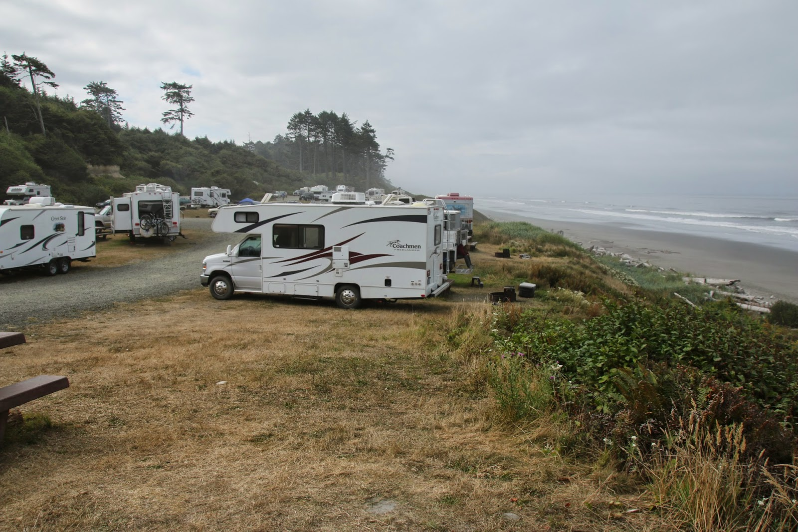South Beach Campground Travels With Les And Pacific Washington