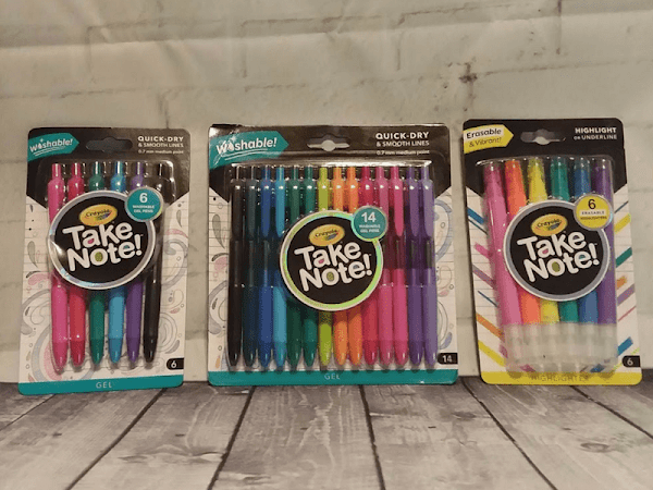 The Easiest Note Taking With Crayola Take Note Products