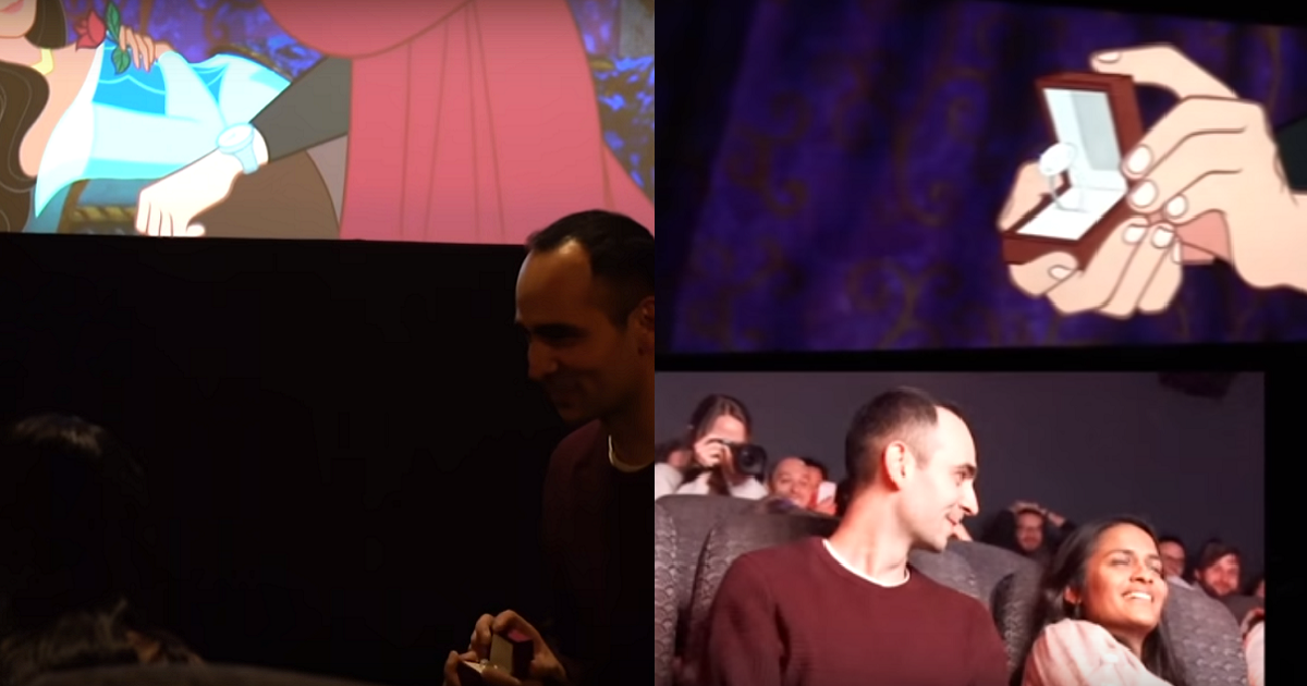 Guy Altered The Sleeping Beauty Movie To Propose To His Girlfriend In The Most Creative Way