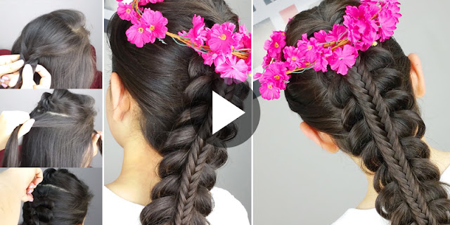 Learn - How To Make Simple Fishtail Braid Hairstyle, See Tutorial