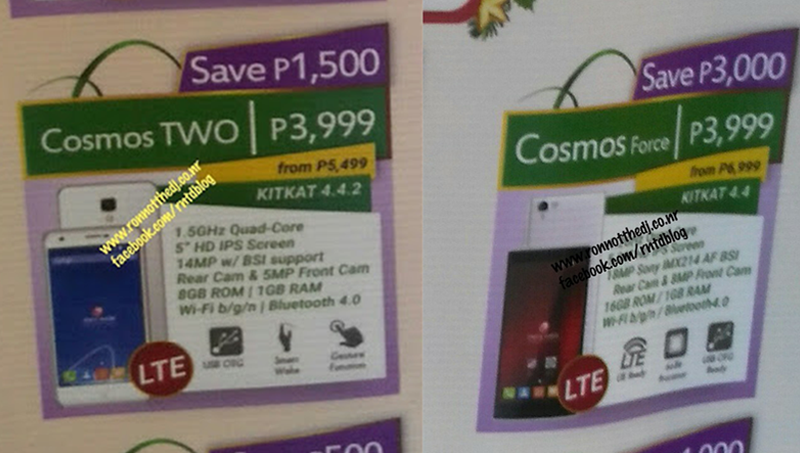 What A Surprise, The LTE Powered Cherry Mobile Cosmos Force And Cosmos Two Down To Just 3999 Pesos!