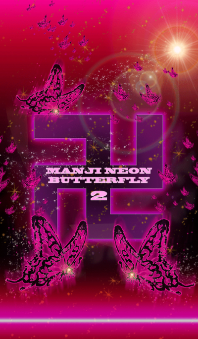 Manji butterfly PINK 2