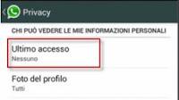 Whatsapp: nascondere spunta messaggi letti e ultimo accesso