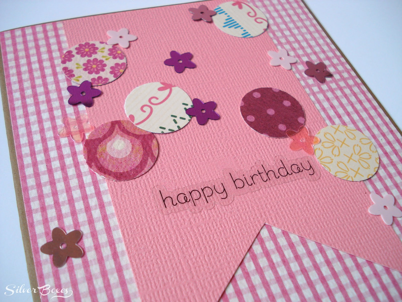 Silver Boxes: Confetti Birthday Cards