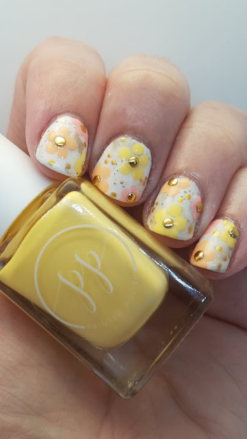 spring mani, flowers, flower mani, nailart, hand painted nails