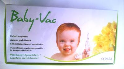 Saippuakuplia olohuoneessa- blogi, kuva Hanna Poikkilehto, baby-vac, vauvojen ja taaperoiden nenäimuri,