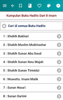 Kumpulan hadits dari 8 Imam