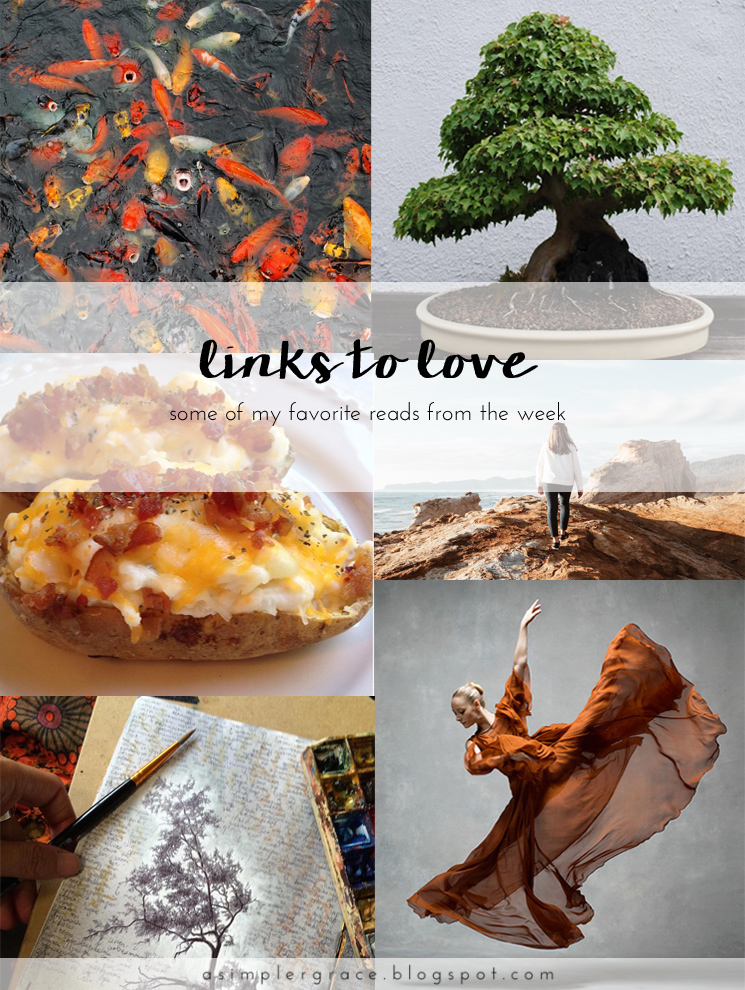A post featuring my favorite reads from the week.  #linkstolove #fridayfavorites - Links to Love | 70 - A Simpler Grace