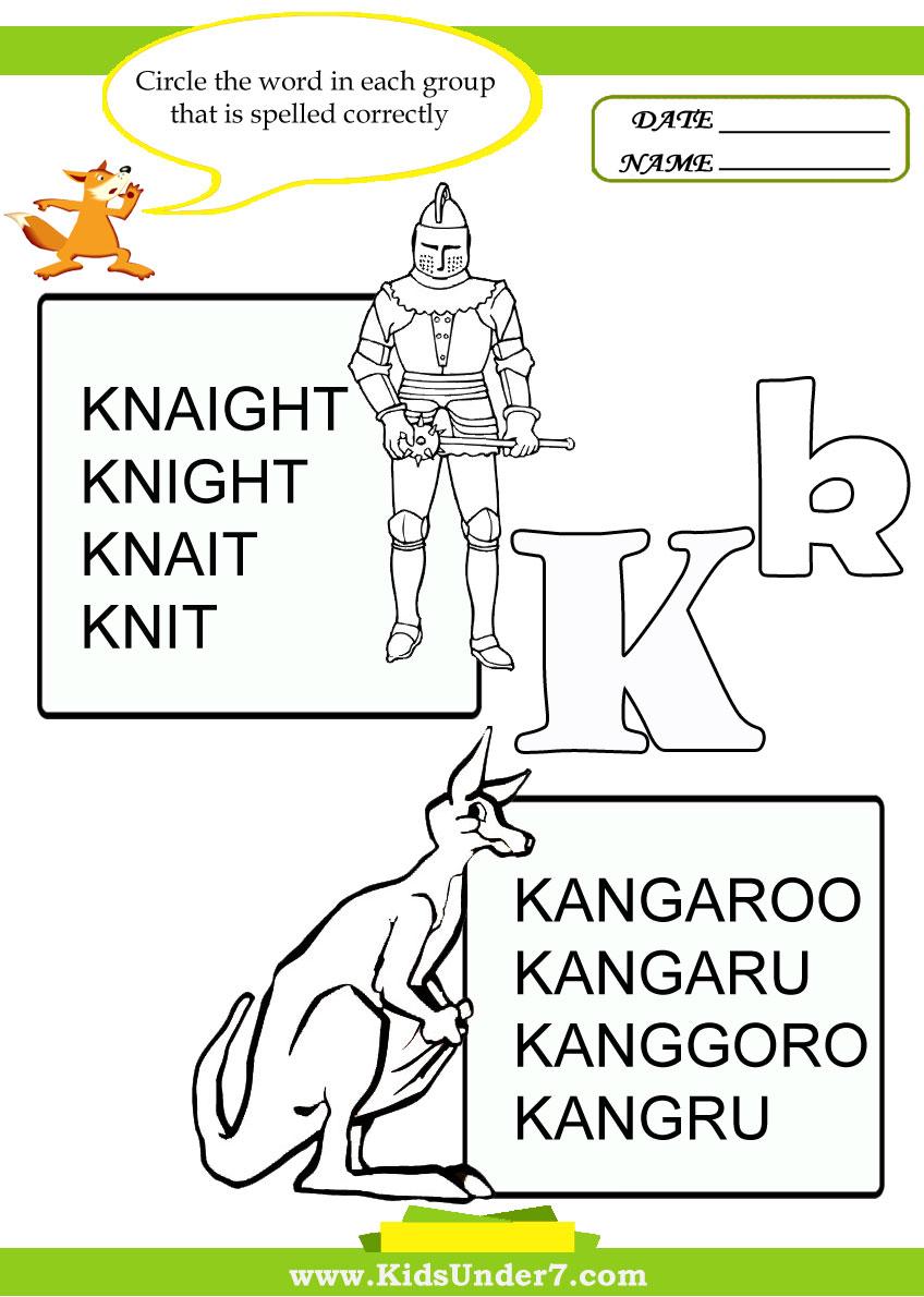 Two Letter K Words http://www.kidsunder7.com/2011/07/correct-spelling ...