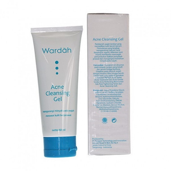 review dan harga wardah acne cleansing gel