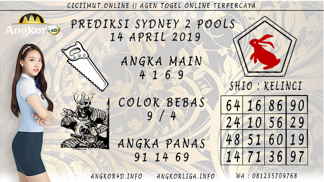 Prediksi Angka Jitu SYDNEY 2 POOLS 14 APRIL 2019