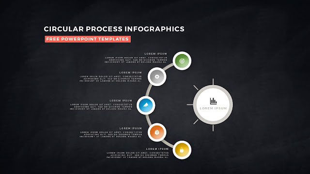 Circular Process Diagram Infographic Free PowerPoint Template Slide 12