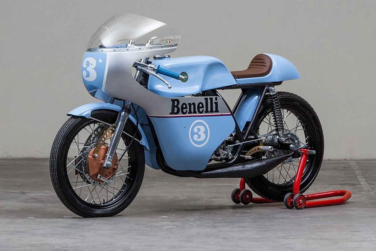 rhapsody in blue - 1968 benelli 250 tribute ~ return of the cafe