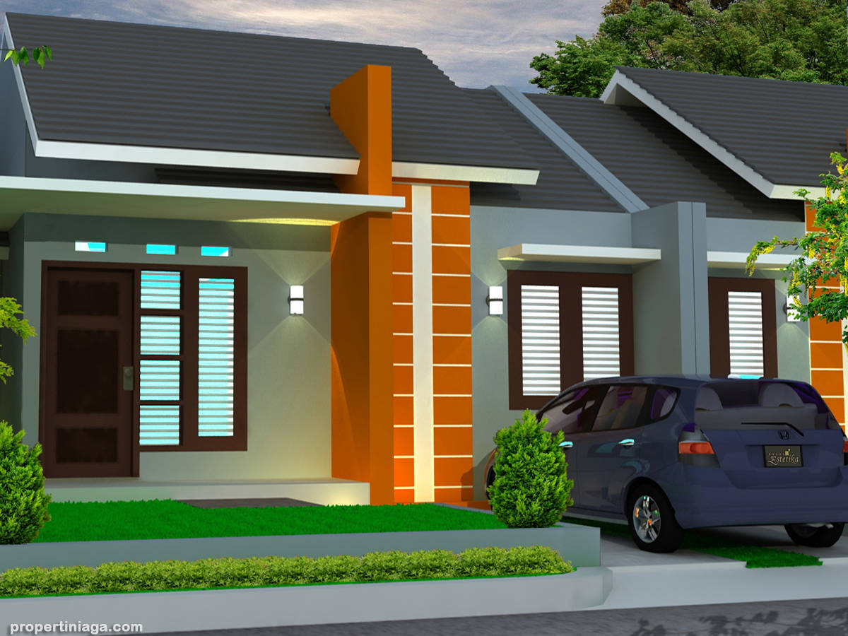 99 Contoh Model Gambar Desain Rumah Minimalis Sederhana Pedesaan 1 Lantai Tampak Depan