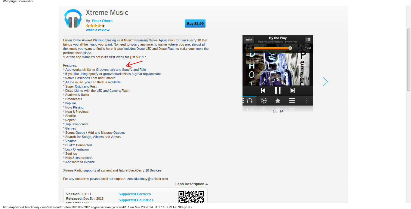 Xtreme Music app for BB10 , Rant
