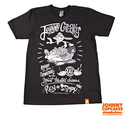 "Nickelodeon x Johnny Cupcakes Collection Wave 1 - Ren & Stimpy ""Delivery Drivers"" t-shirt"