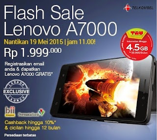Flash Sale Lenovo A7000 Android Lollipop 5.5 inch murah Rp 1.999.000