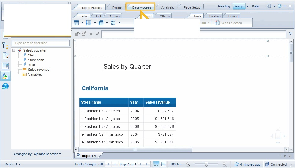 Webi 4 Changing The Query Data Source Sap Business