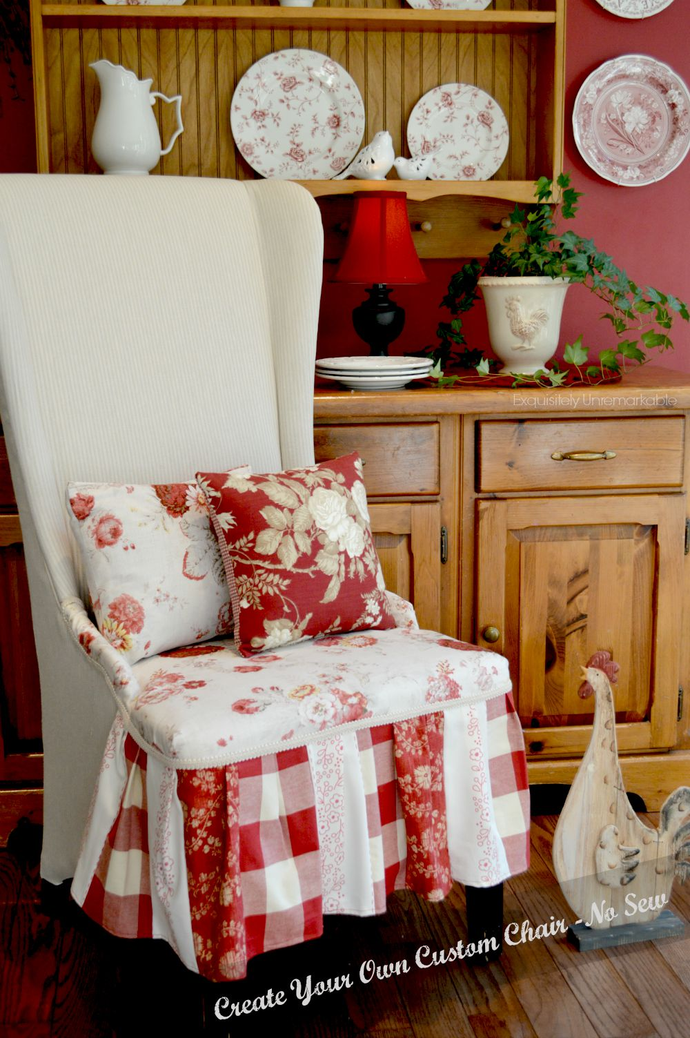 No Sew Reupholstered Chair