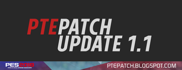 Update Patch PES 2018 dari PTE V1.1