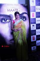 Bollywood Actress Raveena Tandon in Transparent Green Saree at Trailer Launch Of Film Maatr  0038.JPG