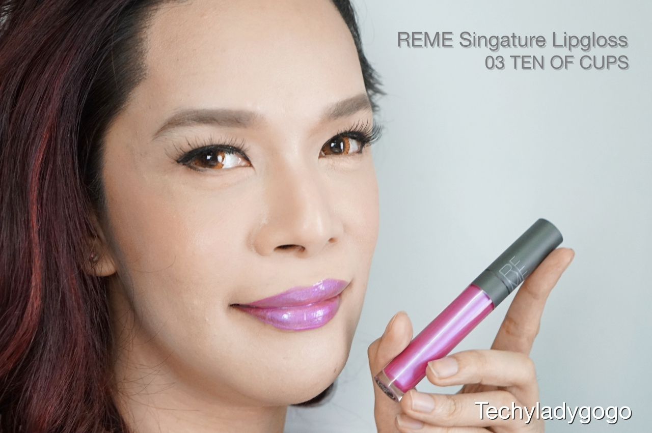 Techyladygogo ทา Reme Signature Lipgloss สี 03 Ten of cups