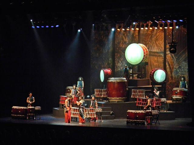 zespół, bębniarze, Japonia, show