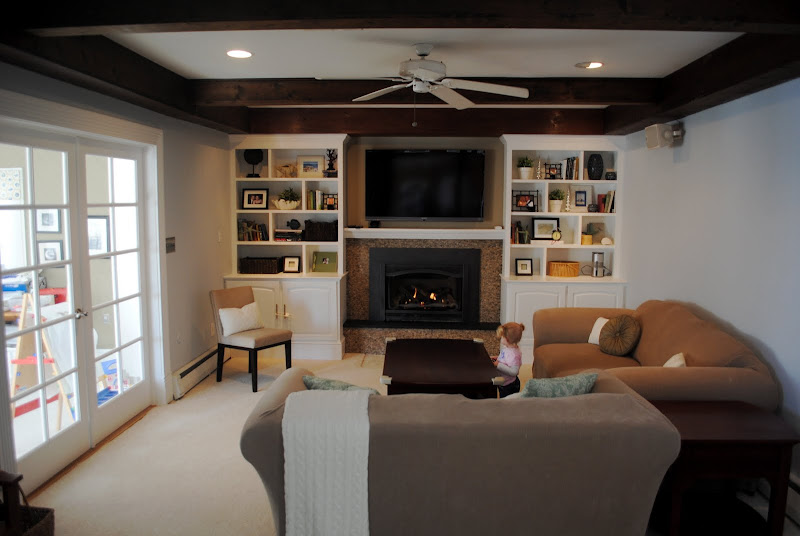 Living room renovation- the old couch and loveseat