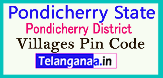 Pondicherry District Pin Codes in Pondicherry State