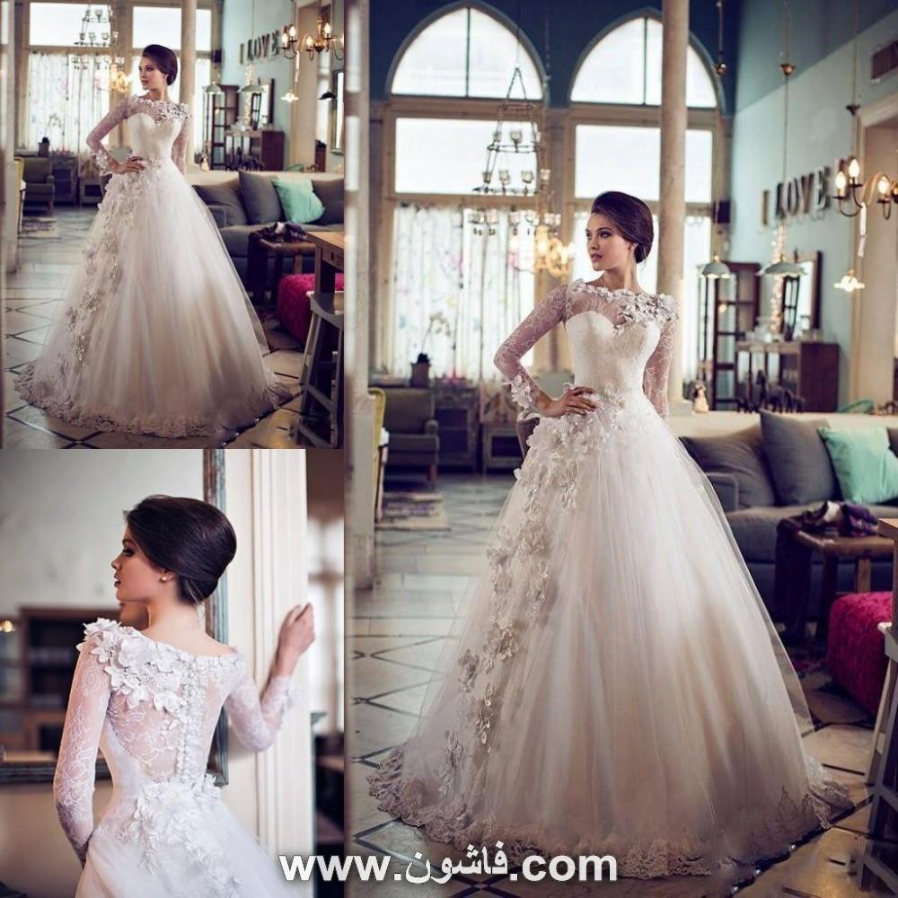7fa161baaa0e1 فستان زفاف من الورد الطاير