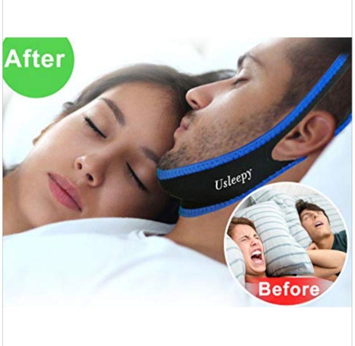 Anti-Snoring Sleeping Aid Chin Strap - Usleepy