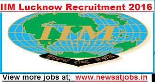IIM-Lucknow-Recruitment-2016