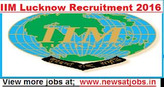 IIM-Lucknow-Recruitment-2016