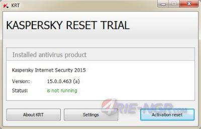Kaspersky Reset Trial 5.1.0.41 Terbaru Gratis