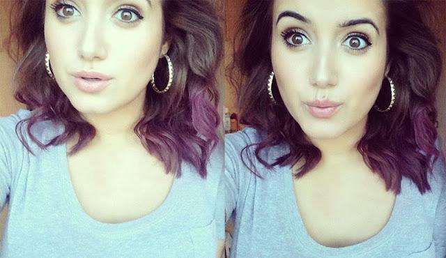 Coloured Ends For Dark Hair Feat Bleach London And