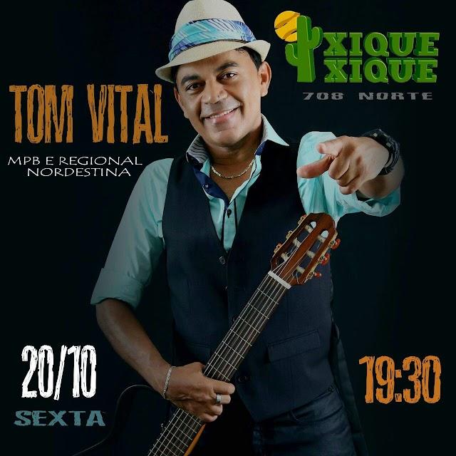 Agenda do cantor piauiense Tom Vital em Brasília. Confira próximos shows.